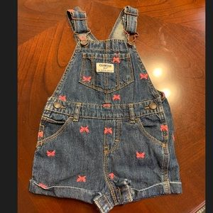 3 For $10 🎉 Osh Kosh Baby Girl Overall Shorts